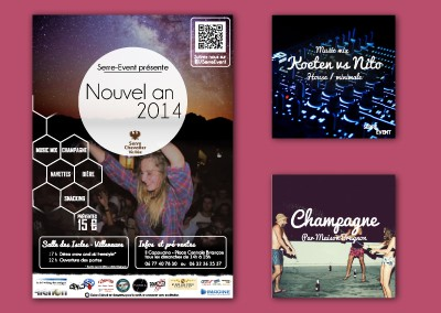 Serre Event – Création graphique et coordination – Nouvel an 2014