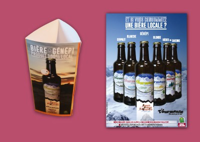 Brasserie des Grands Cols – Création graphique – Promotion hiver 2014/2015