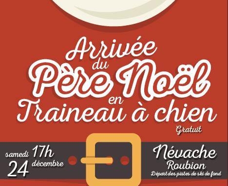 DOMAINE NORDIQUE DE NÉVACHE – Affiche – Père Noël  – 2016
