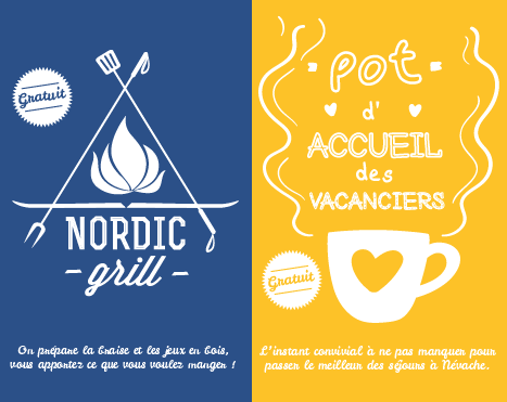DOMAINE NORDIQUE DE NÉVACHE – Affiche – Nordic Grill & Pot d'accueil des vacanciers – 2017