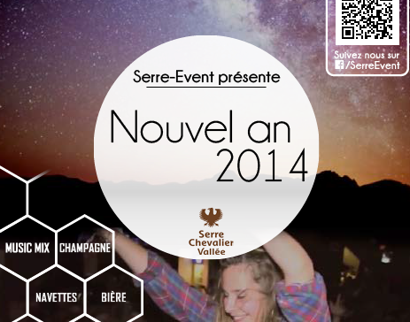 SERRE-EVENT – Affiche – Nouvel an 2014 – 2013