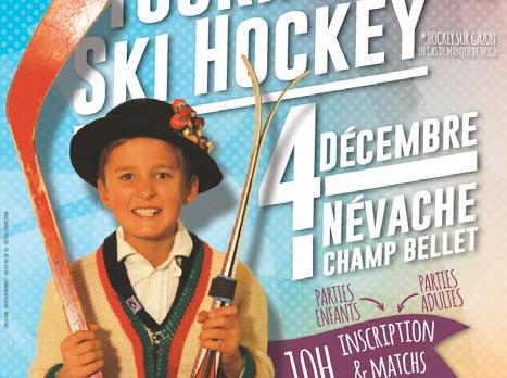 DOMAINE NORDIQUE DE NÉVACHE – Affiche – Tournoi de ski hockey – 2016