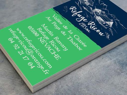 REFUGE RICOU – Carte de visite – 2016