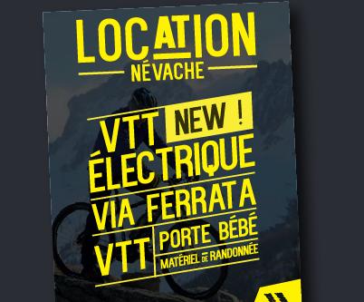 NÉVASPORT – Flyer – Location matériel Névache – 2016